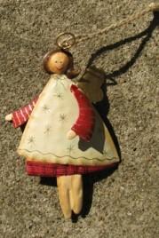 2758C - Cream Tin Angel Christmas Ornament