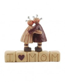 29644M - I Love Mom resin Block