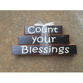 Primitive Wood Stacking Blocks 29SB Count Your Blessings