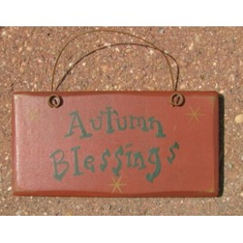 3001AB- Autumn Blessings mini wood sign