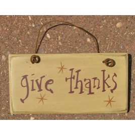 Primitive Wood Fall Sign 3001GT - Give Thanks Sign