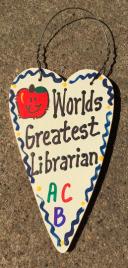 Teacher Gifts 3016  Worlds Greatest Librarian