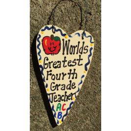 Teacher Gifts 3018  Worlds Greatest  Fourth Grade Teacher