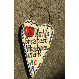Teacher Gifts 3021  Worlds Greatest  Attendance Clerk