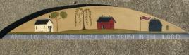 Primitive Country Wood 3073ALDC - Abiding Love Door Crown