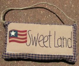 31030SL - Patriotic Sweet Land Cloth Mini Pillow