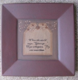 Primitive Wood Plate 31231W - When the World says give up