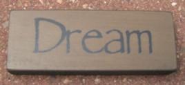 Primitive Wood Block 31419D - Dream