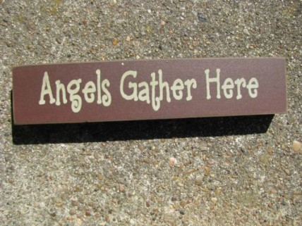 31422AGH- Angels Gather Here Wood Block