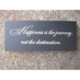31430H-Happiness is the journey not a destination wood block