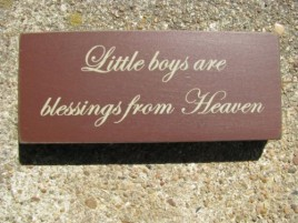 31431LB Little Boys Are  Blessing from Heaven Wood Block
