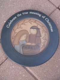 Wood Plate    31488- Celebrate the True Meaning of Christmas