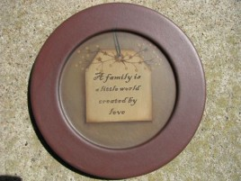 31571A - A Family is a little world created by love wood plate