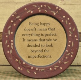 Being  Happy Wood Plate