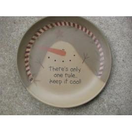 31818C- Keep it Cool Snowman wood Plate