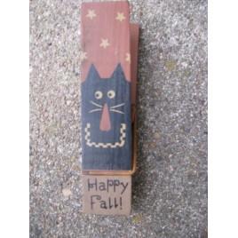 32114H - Happy Fall Wood Clip