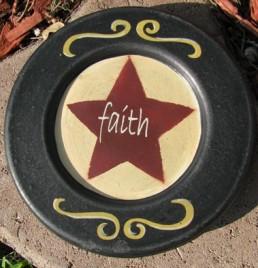 32156H - Faith Wood Plate