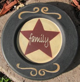 32156Y - Family Star wood plate
