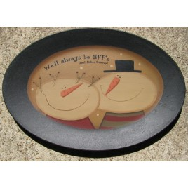 32174bff - We will always Best Flake Friends wood plate