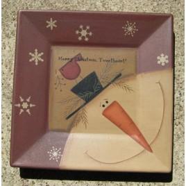 32180MCT-Merry Christmas Tweetheart snowman wood plate