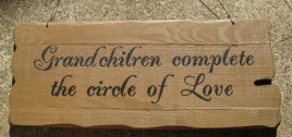 32295G Grandchildren Complete the Circle of Love wood sign