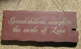 32295M Grandchildren Complete the Circle of Love wood sign