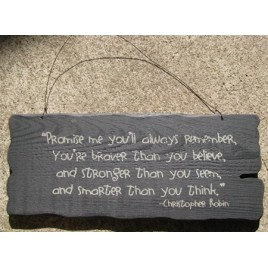 32304B- Promise Me you will always remember wood sign