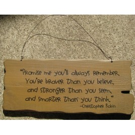 32304G- Promise Me you will always remember wood sign