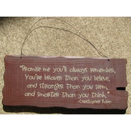32304M- Promise Me you will always remember wood sign