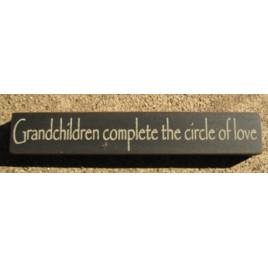 32314GB-Grandchildren Complete the circle of love wood block