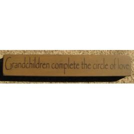 32314GG-Grandchildren Complete the circle of love wood block