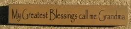 32314BG - My Greatest Blessings call me Grandma wood block