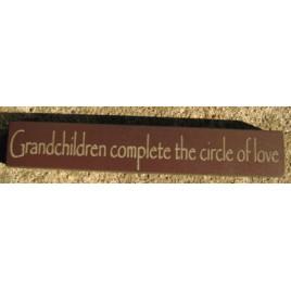 32314GM-Grandchildren Complete the circle of love wood block