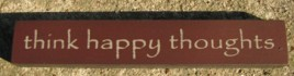 32321TM - Think Happy Thoughts mini wood block