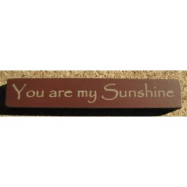 32325YM You Are My Sunshine mini wood block