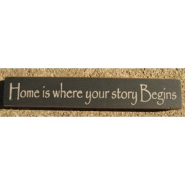 32326HB Home is where your story Begins Wood Block