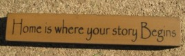 32326HG Home is where your story Begins Wood Block