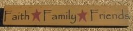 32328FG - Faith Family Friends wood block