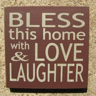 32348BM-Bless this Home with Love and Laughter