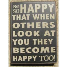 32416B - Be Happy Box Sign