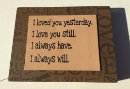 Primitive Wood Box Sign - 32509L - I Love You