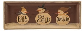 Wood Plate 32844C - Baby It's Cold Outside