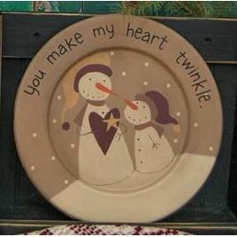 32995T You make my heart twinkle wood plate