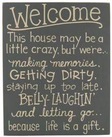 Primitive Wood Box Sign  32998W - Welcome