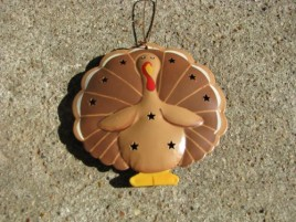 OR-332 Turkey Metal Ornament