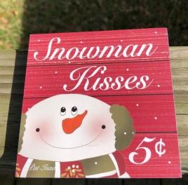 34189SK - Snowman Kisses Wood Block