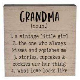 34471 Grandma Definition Box Sign