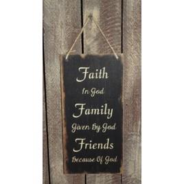 3469FFF - Faith Family Friends Sign