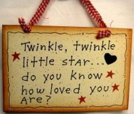 505-35246-Twinkle Twinkle Little star...do you know how loved you are? wood sign