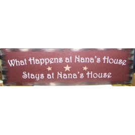 36903M- What Happens at Nana's  House stays at Nana's House wood sign